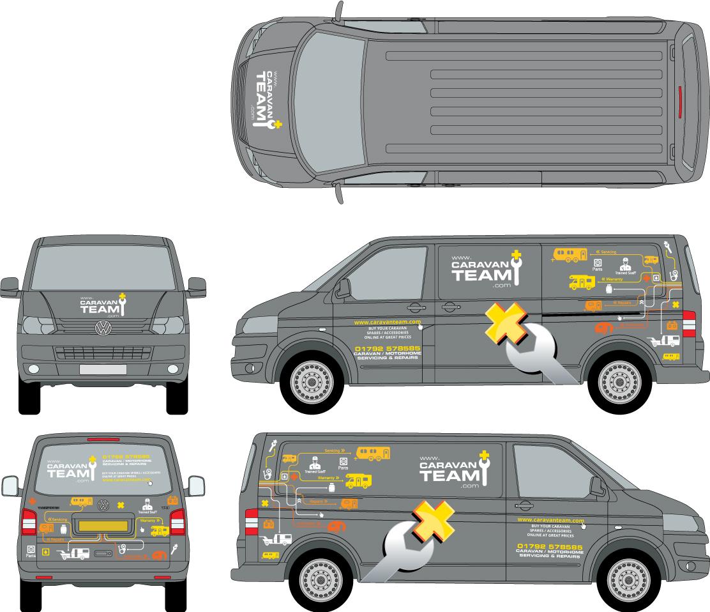 Vehicle Wrap design for VW Transporter livery